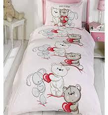 teddy bear bedding single duvet