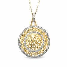 medallion pendant in sterling silver
