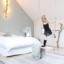 rope swing in girls room patterned rug