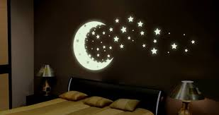 Moonshine Glow In The Dark Wall Decals Stars Dezign With A Z