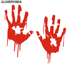 Sliverysea 19 16cm Zombie Bloody Hands Print Fun Vinyl Waterproof Car Sticker Motorcycle Window Decal Accessories Red B1158 Car Stickers Aliexpress