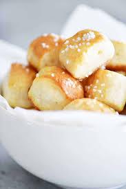 two ing dough pretzel bites
