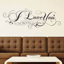 Shop Walplus Wall Sticker Wall Art I Love You Quote Home Decor Diy Decal Overstock 31770418