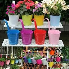 Creative Plant Pots Flower Pots Hanging Planter Garden Fence Balcony Railin Shopee Philippines