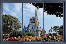 Amazon Com Disney Castle 3d Window Decal Wall Sticker Home Decor Art Mural Kids Bw004 Large Home Kitchen