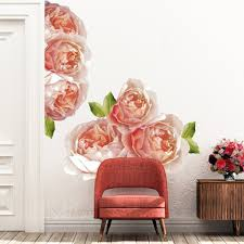 Extra Large Rose Peonies Flowers Wall Decals Picture Perfect Decals