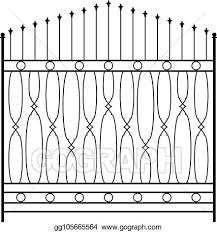 Eps Vector Wrought Iron Gate Door Fence Window Grill Railing Design Stock Clipart Illustration Gg105665564 Gograph