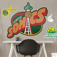 Fathead Fathead Seattle Supersonics Classic Logo Giant Officially Licensed Nba Removable Wall Decal Walmart Com Walmart Com