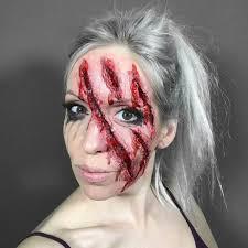 zombie makeup with toilet paper