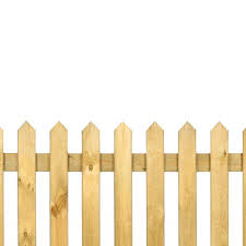 Pointed Top Pickett Fence Panel 3ft X 6ft