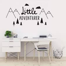 Amazon Com The Tribal Mountain Little Adventure Wall Sticker Art Travel Adventures Mountains Wall Decal For Kids Room Nursery Room Bedroom Wall Art Murals Removable Boys Wall Poster Qq198 88x42cm Baby