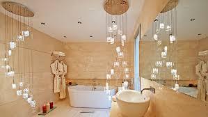 decorate lamps chandelier in bathroom