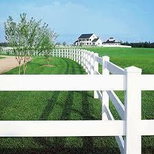Pvc Horse Fencing Vinyl Ranch Fencing Plastic Equine Fence