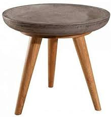 coffee table round 50 cm nino oak