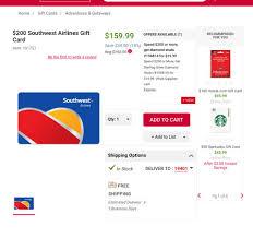 gift card at bjs select amounts