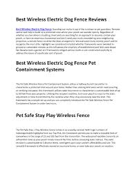 Best Wireless Electric Dog Fence Reviews Pdf Docdroid