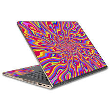 Skin Decal For Hp Spectre X360 15t Laptop Vinyl Wrap Optical Illusion Colorful Holographic Itsaskin Com
