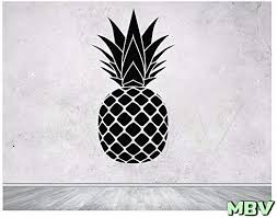 Amazon Com Pineapple Wall Decal Pineapple Vinyl Sticker Pineapple Vinyl Decals Pineapple Wall Art Pineapple Wall Stickers Exotic Decor Sticker Made In Usa Kitchen Dining