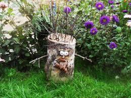 tree stumps for garden art