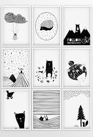 Set Of 3 Black And White Prints Nursery Wall Art Scandinavian Kids Room Kids Bedroom Accessories Baby Posters Modern Nursery Prints Modern Nursery Prints Scandinavian Kids Rooms Nursery Wall Art