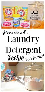 diy homemade laundry detergent recipe