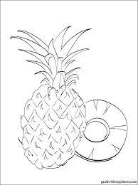 Ananas Kleurplaat Voor Print Gratis Kleurplaten