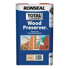 Ronseal Total Wood Preserver Clear 5l Homebase