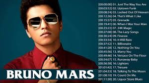 Bruno Mars Best Songs 2018 - Bruno Mars Greatest Hits Songs 2018 | Bruno  mars greatest hits, Songs, Best songs