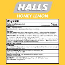 honey lemon sugar free cough drops