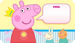 Sobre De Invitacion De Peppa Pig Pepa La Cerdita Para Imprimir
