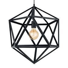 large black geometric pendant light
