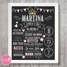 Lamina Pizarra Imprimible Personalizada Corona Princesa Glitter