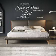 Home Vinyl Wall Decal Stickers Inspirational Quotes I Will Lie Down Sleep Ebay
