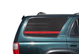 Usa Thin Red Line Flag Decals Fits Rear Window Toyota 4runner Trd Pro Fr11 R Ebay