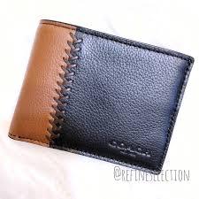 bill baseball stitch leather wallet