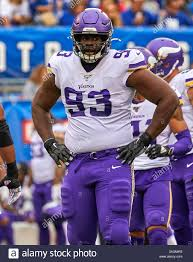 East Rutherford, New Jersey, USA. 6th Oct, 2019. Minnesota Vikings  defensive tackle Shamar Stephen (93) during a NFL game between the  Minnesota Vikings and the New York Giants at MetLife Stadium in