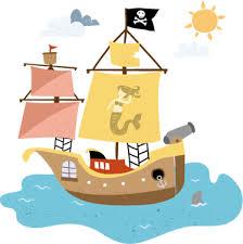 Pirate Ship Kids Wall Sticker Tenstickers