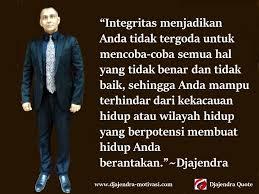 integritas adalah kekuatan dari dalam diri untuk menjadikan diri