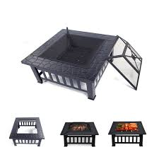 wood burning fire pit outdoor heater