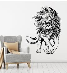 Vinyl Wall Decal Lion Animal Predator Tribal King Of Jungle Stickers M Wallstickers4you