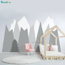 Closely Packed Mountains Woodland Wall Decals Baby Room Decals Nursery Baby Boy Kids Unique Gift Vinyl Poster Yt2464 Wall Stickers Aliexpress