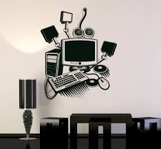 Vinyl Wall Decal Computer Art Gamer Play Room Pc Kids Mural Stickers Unique Gift Ig3213 Vinyl Wall Decals Murals For Kids Wall Stickers