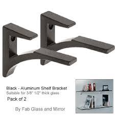 black aluminium shelf bracket 3 8 inch