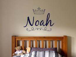 Amazon Com Wall Vinyl Sticker Noah Name Boy Prince King Crown Inscription Kids Room Mural Decal Art Decor Lp0344 Handmade