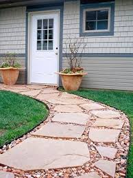 patio ideas with red pavers and light