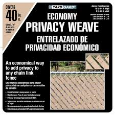 Yardgard 4 Ft H X 250 Ft W Beige Economy Vinyl Fence Weave 330250wbg The Home Depot