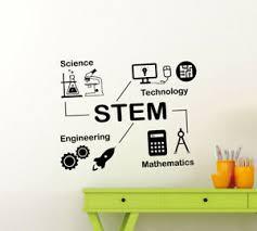 Stem Wall Decal Math Poster Sign Science Vinyl Sticker Classroom Wall Art 177ct 822759216651 Ebay