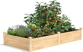 Amazon Com Greenes Fence Cedar Raised Garden Kit 4 Ft X 8 Ft X 14 In Garden Outdoor