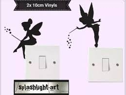 Tinker Bell 2x 10cm Light Switch Vinyl Sticker Wall Decal Or Etsy