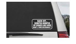 Amazon Com Celycasy Back Off Bumper Humper Decal Tailgater Car Window Decal Vinyl Sticker Baby